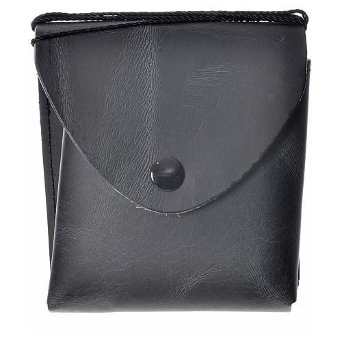 Porta teca pelle per teca 10 cm nero 4