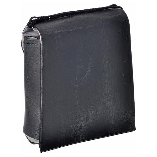 Porta teca pelle per teca 10 cm nero 5