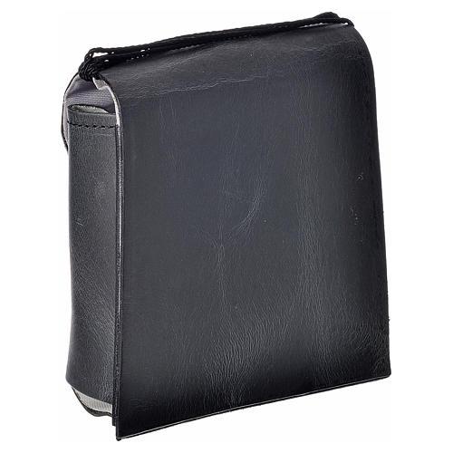 Porta teca pelle per teca 10 cm nero 2