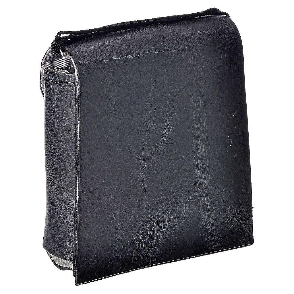 Pyx case in leather, 10 cm, black 3