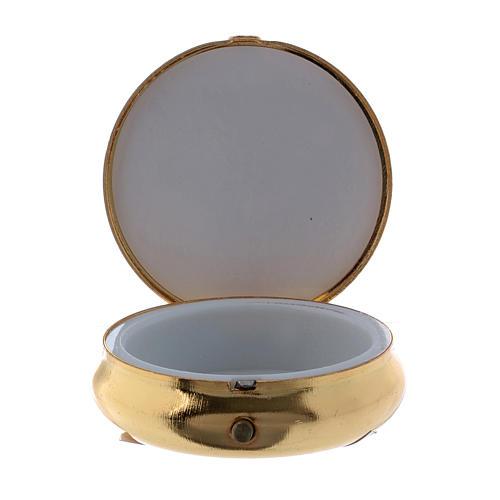 Trinity host box in metal with aluminium plate 5 cm 2