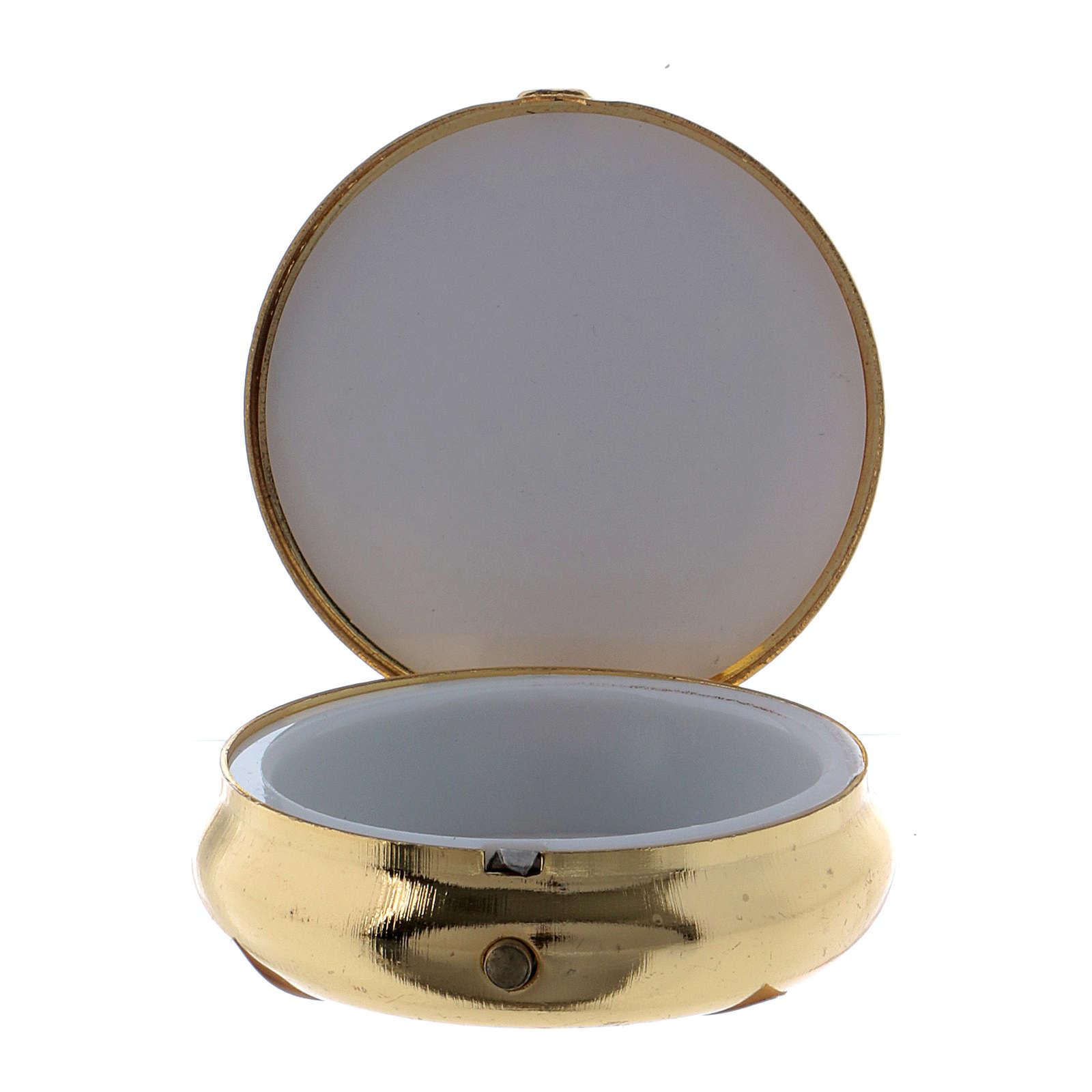 Holy Spirit Dove host box in metal with aluminium plate 5 cm 3