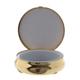 Holy Spirit Dove host box in metal with aluminium plate 5 cm s2
