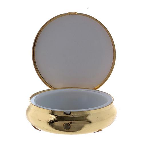 Holy Spirit Dove host box in metal with aluminium plate 5 cm 2