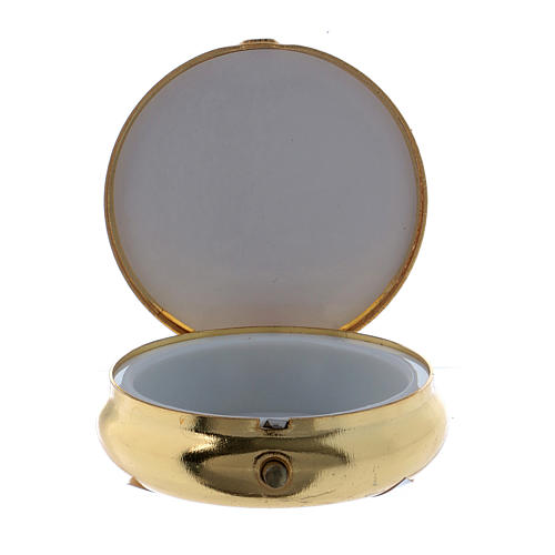 Candle host box in metal with aluminium plate 5 cm 2