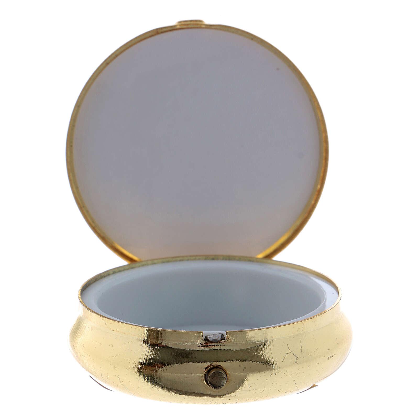 Versehpatene Messing Eucharestie Symbolen Bild Aluminium 5cm 3