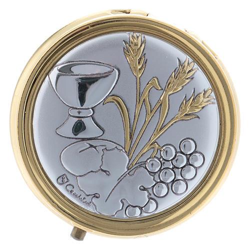 Portaostia spiga, grano calice e uva in metallo placca alluminio 5 cm 1