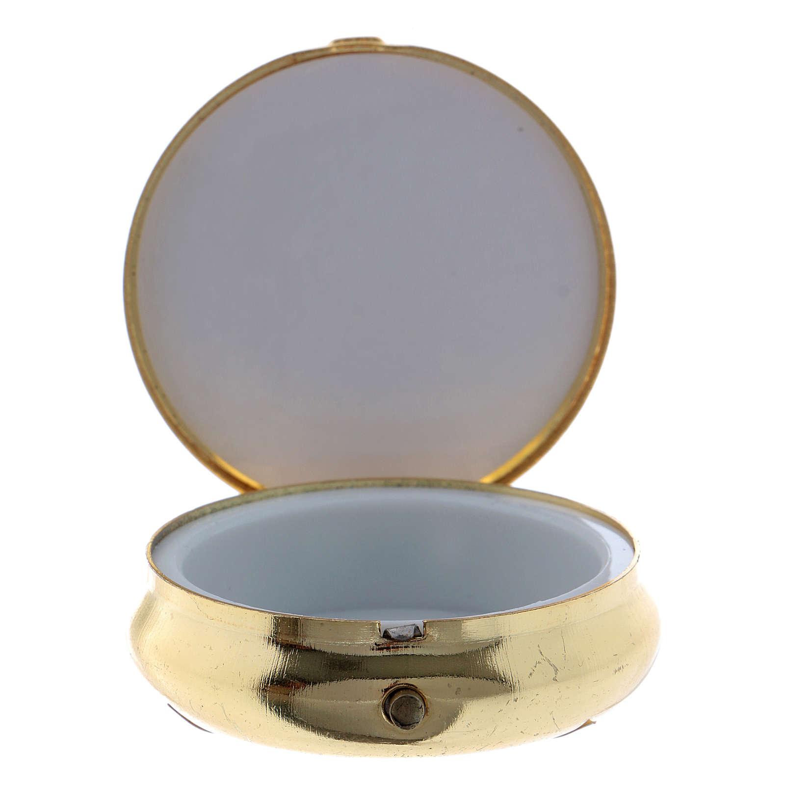 Cyborium kłosy pszeniczne winogron kielich płytka aluminium metal 5 cm 3