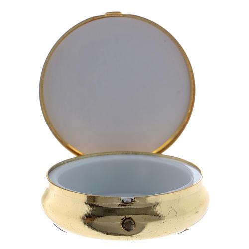 Cyborium kłosy pszeniczne winogron kielich płytka aluminium metal 5 cm 2