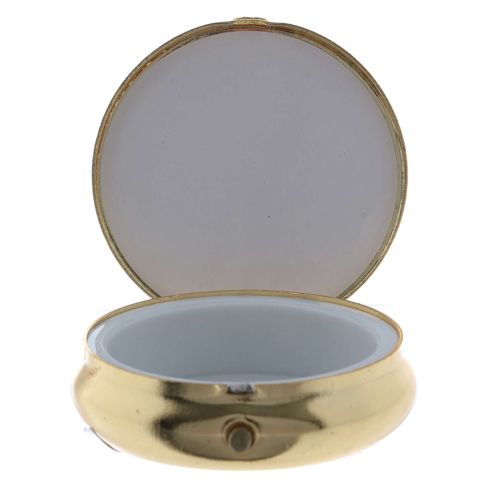 The Last Dinner pill box in metal with aluminium plate 5 cm 3