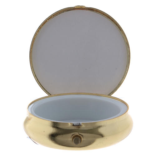 The Last Dinner pill box in metal with aluminium plate 5 cm 2