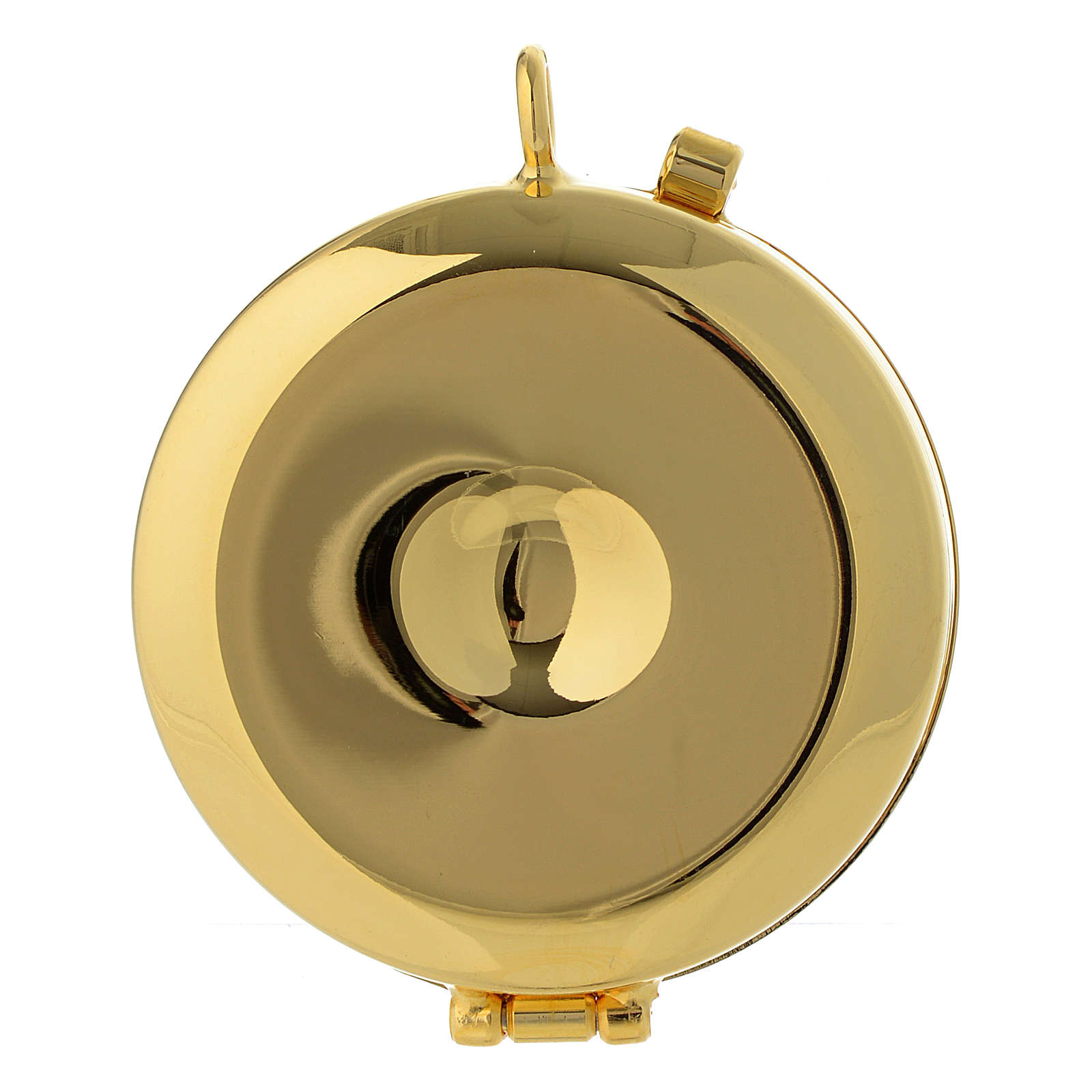 Teca porta Ostie Ultima Cena metallo disco ulivo inciso diam. 5,5 cm 3