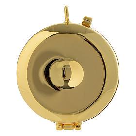 Teca porta Ostie Ultima Cena metallo disco ulivo inciso diam. 5,5 cm s3