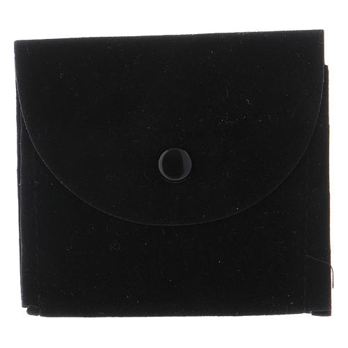 Etui na cyborium torebka zamszowa czarna 1
