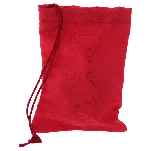 Relicario dorado con saco rojo diámetro 6 cm 3