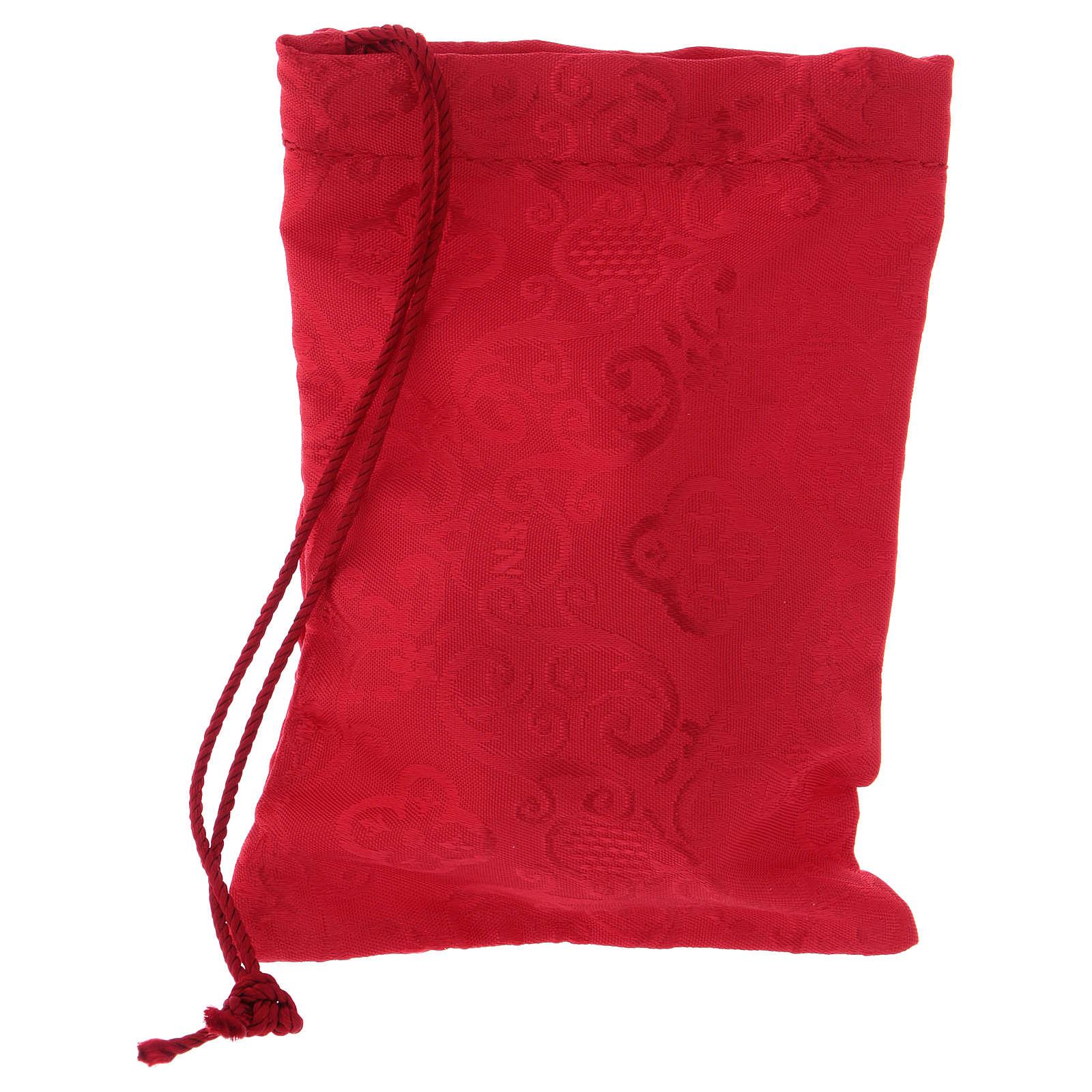 Teca dorata con sacchetto rosso diametro 6 cm 3