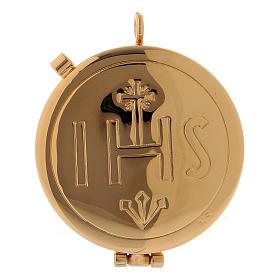 Étui avec custode dorée IHS cuir noir diamètre 5,5 cm s3