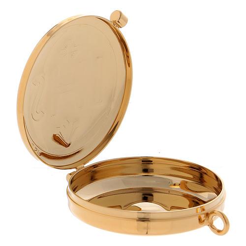 Étui avec custode dorée IHS cuir noir diamètre 5,5 cm 4