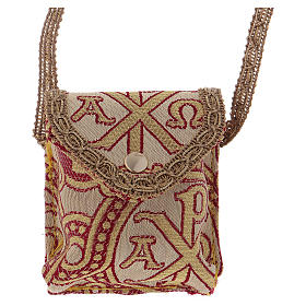 Pyxes and Burses: Alpha Omega bag for case with case diam. 5 cm
