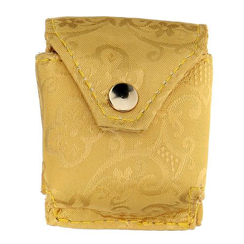 Estuche con relicario jacquard amarillo 4