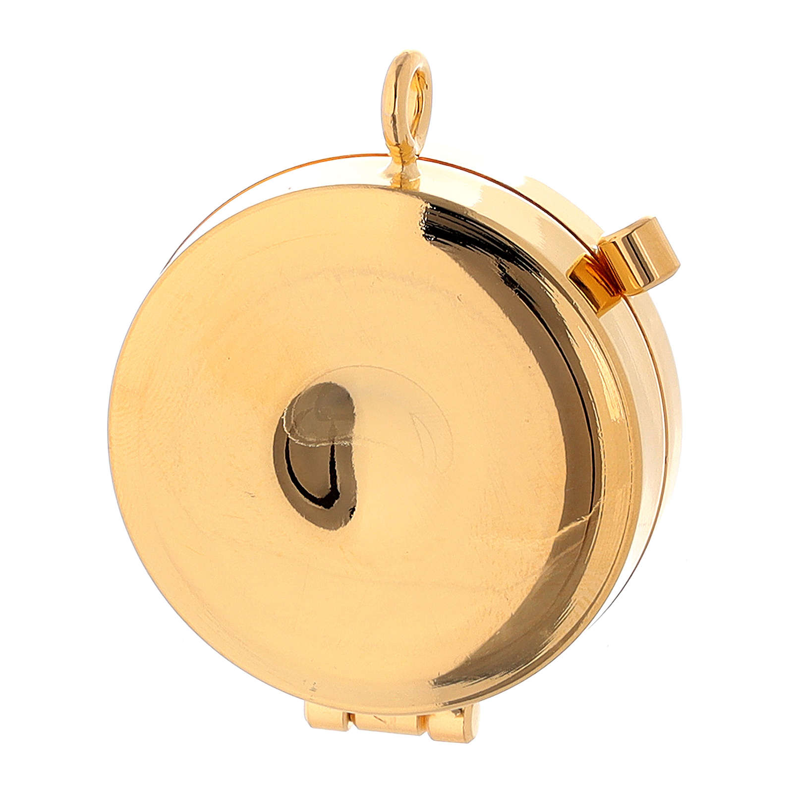 Relicario Eucarístico mini placa esmaltada Comunión diámetro 4 cm 3