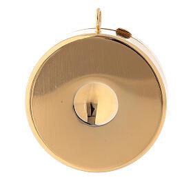 Relicario para hostias IHS esmaltado plata 800 dorado s3