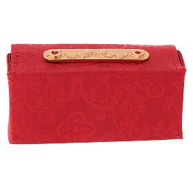Étui rigide jacquard rouge Huiles Saintes s5