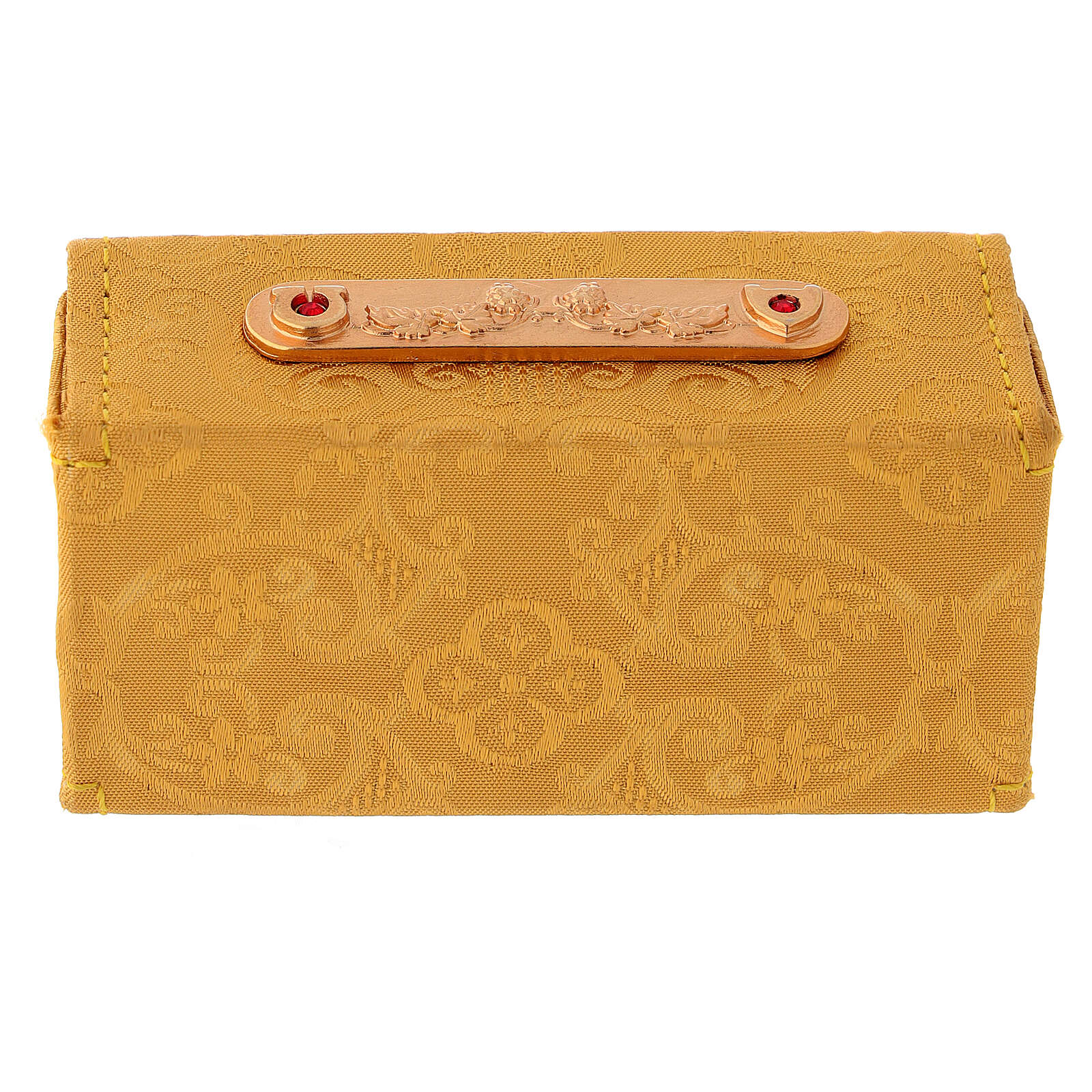 Hard case in golden Jacquard fabric with three Holy oil stocks 3