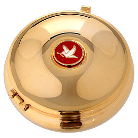 Pyx with enamel dove and red bag s1