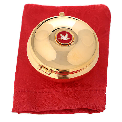 Pyx with enamel dove and red bag 4