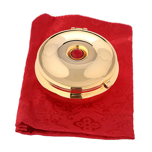 Pyx with red stone and red bag 4