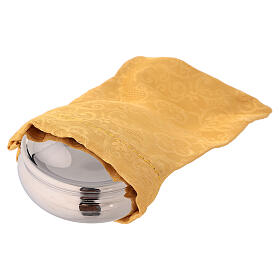 Teca argentata con colomba smaltata e sacchetto giallo s2
