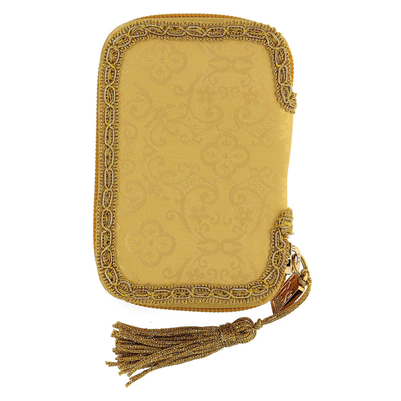 Estuche para viático Virgen Guadalupe color oro con relicario d. 5 cm 3