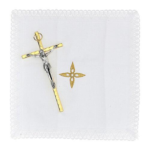 Estuche para viático Virgen Guadalupe color oro con relicario d. 5 cm 4