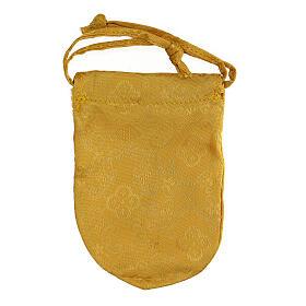 Bolsa dorada con relicario esmaltado 5 cm cruz y manutergio s6
