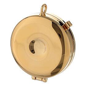 Étui doré avec custode émaillée 5 cm croix et manuterge s5