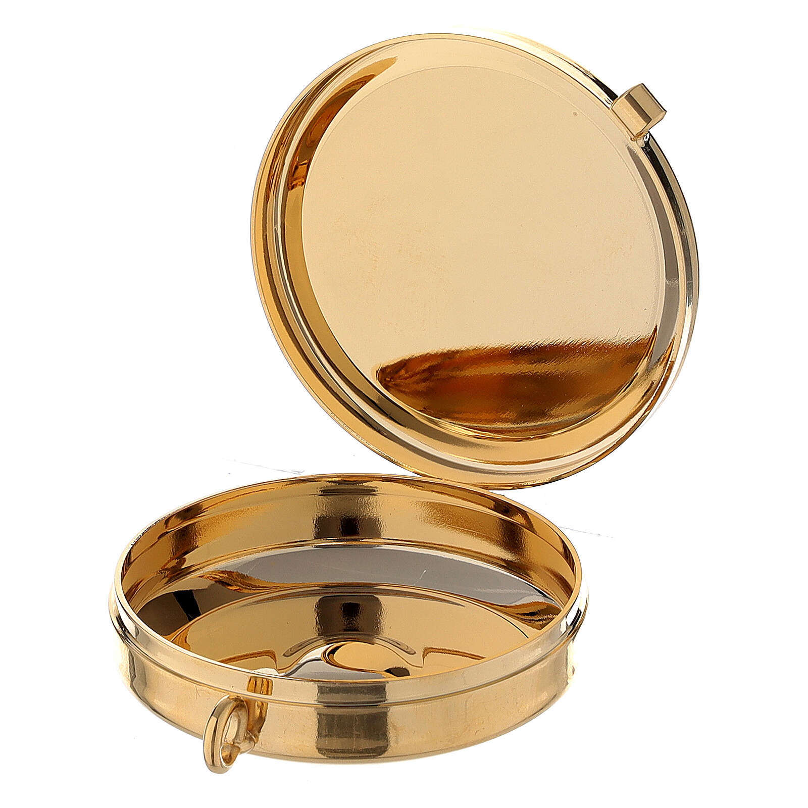 Golden burse with white decorations and a 2 in pyx 3