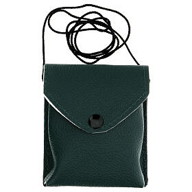 Green leather burse with string and 3 in pyx s6