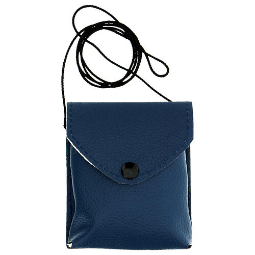 Blue leather burse with string and 3 in pyx 6