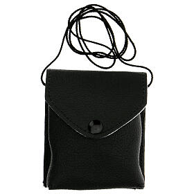 Black leather burse with string and 3 in pyx s6