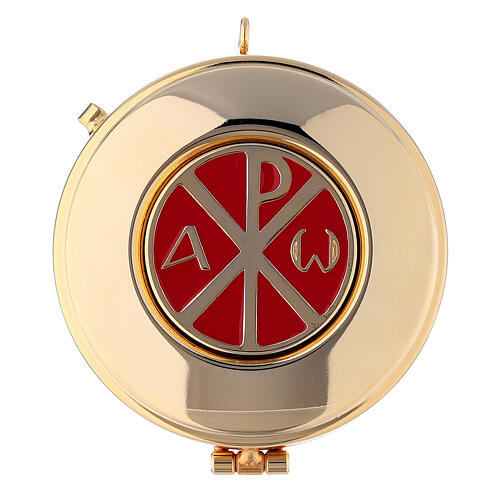 Black leather burse with string and 3 in pyx 2