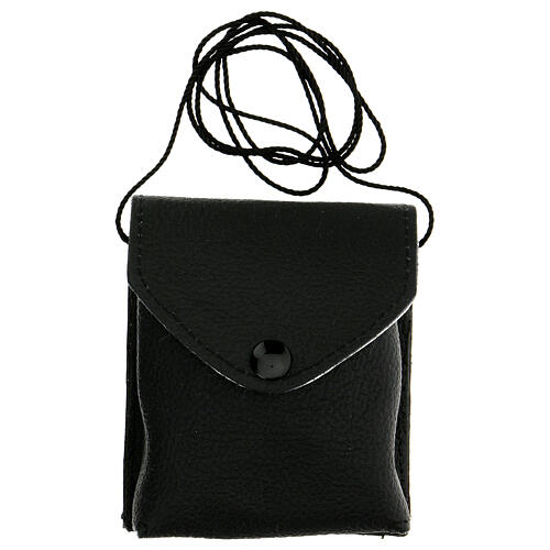 Black leather burse with string and 3 in pyx 6