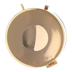 Estuche adamascado de jacquard dorado con cuerda para relicario d. 7,5 cm s5