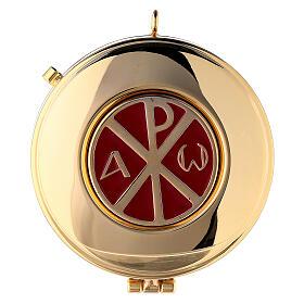 Étui damassé en jacquard doré avec cordelette pour custode à hosties diam. 7,5 cm s2