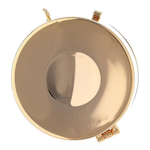 Étui damassé en jacquard doré avec cordelette pour custode à hosties diam. 7,5 cm 5