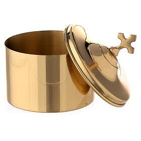 Golden brass holder h 7 cm s2