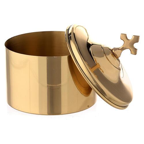 Golden brass holder h 7 cm 2