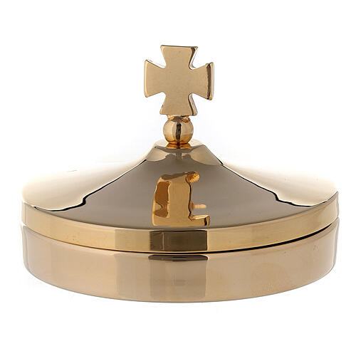 Wafer holder box in 24k shiny golden brass with guaranteed gold plating 1
