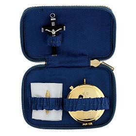 Étui pour viatique bleu Vierge Marie custode diam. 5,5 cm s1