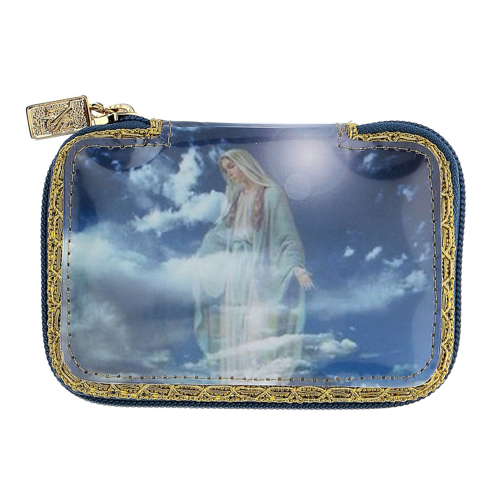 Astuccio portaviatico blu Beata Vergine teca diam 5,5 cm 3